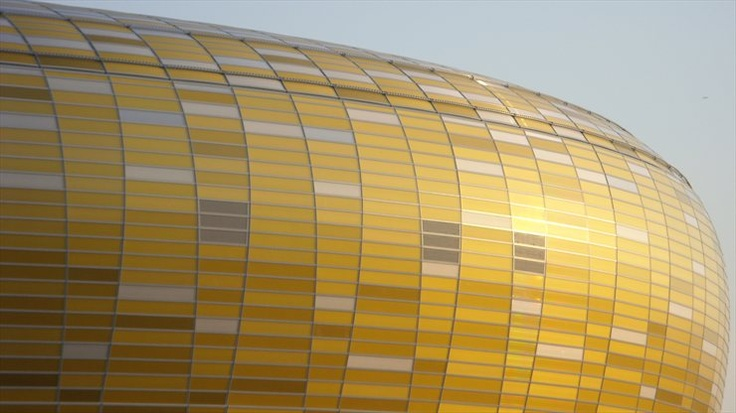 PGE Arena Danzig, DANZIG / POLAND / 2008 by RKW  #architecture #stadium #gold