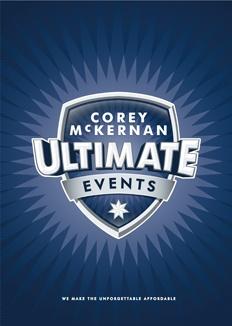 Corey McKernan Ultimate Events logo