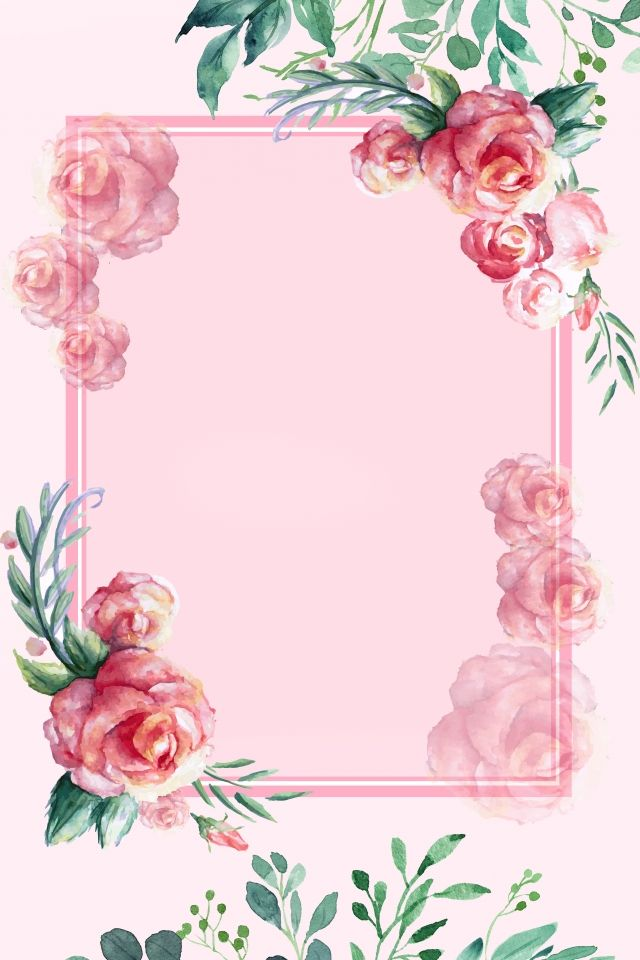 Pink Fresh Invitation Card Hand Painted In 2020 Pink Background