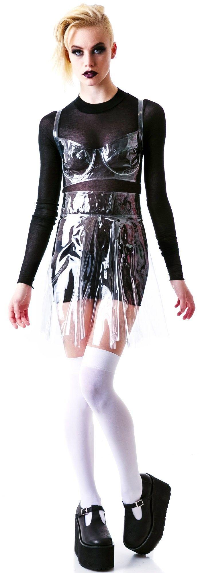 Chromat Piriform #Vinyl #Skirt