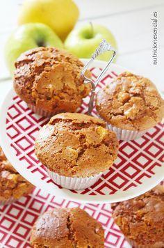 muffins veganos de manzana. Nutrición Esencial