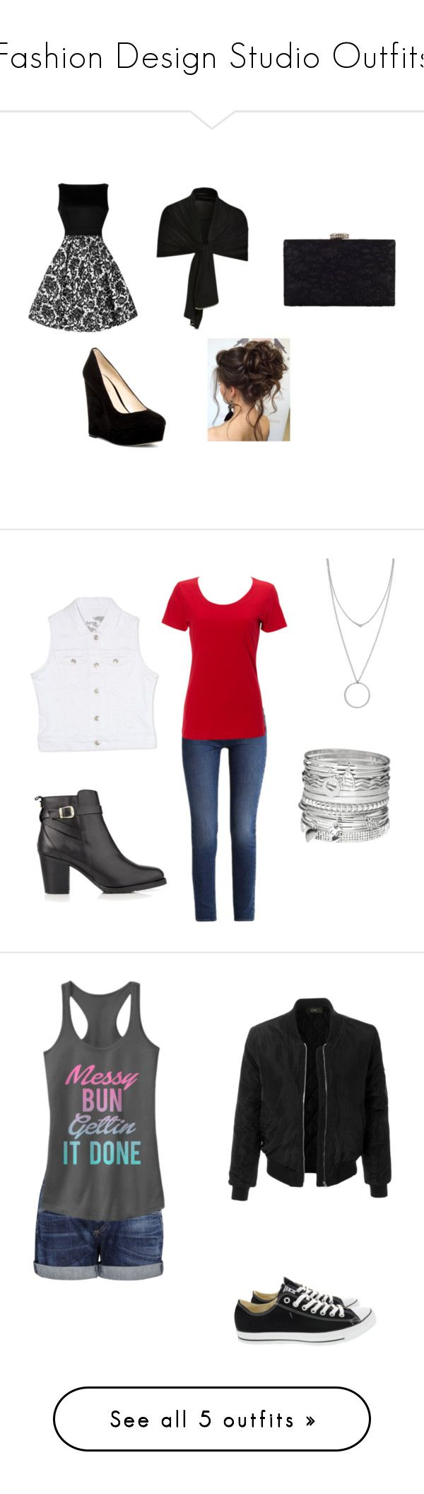 """""""Fashion Design Studio Outfits"""" by nicbeat13 ❤ liked on Polyvore featuring Nine West, Rhona Sutton, Chesca, Calvin Klein, Simplex Apparel, Rhythm in Blues, Kurt Geiger, Avenue, Botkier and Citizens of Humanity"""