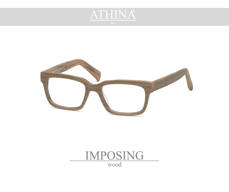Mod. IMP1717V Spectacles totally made in top-qulity acetate of cellulose with a rectangular shape in wood colour.