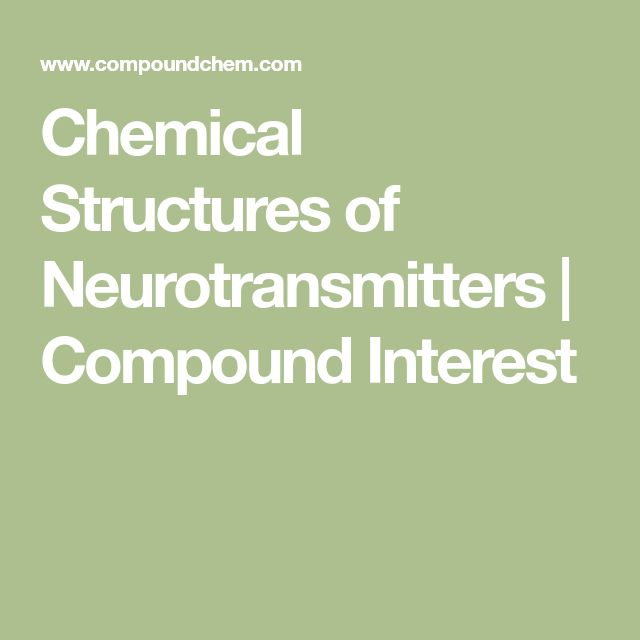 Chemical Structures of Neurotransmitters | Compound Interest
