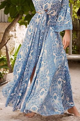 Paisley print maxi skirt from Boston Proper