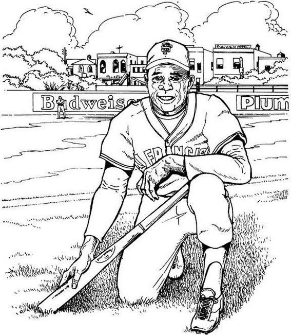 Softball Player Man Coloring Picture Baseball Coloring Pages Sports Coloring Pages Football Coloring Pages