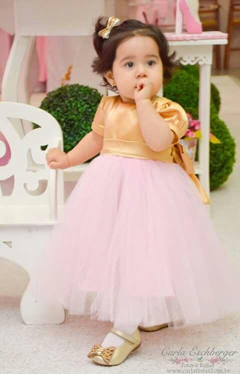 Vestido de princesa bailarina 1 aninho Por Mirian Rosa