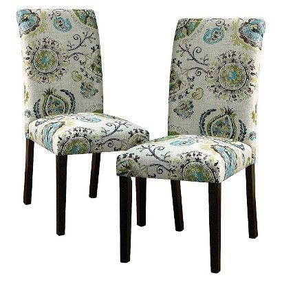 Avington Print Accent Dining Chair Wood Skyline Dining