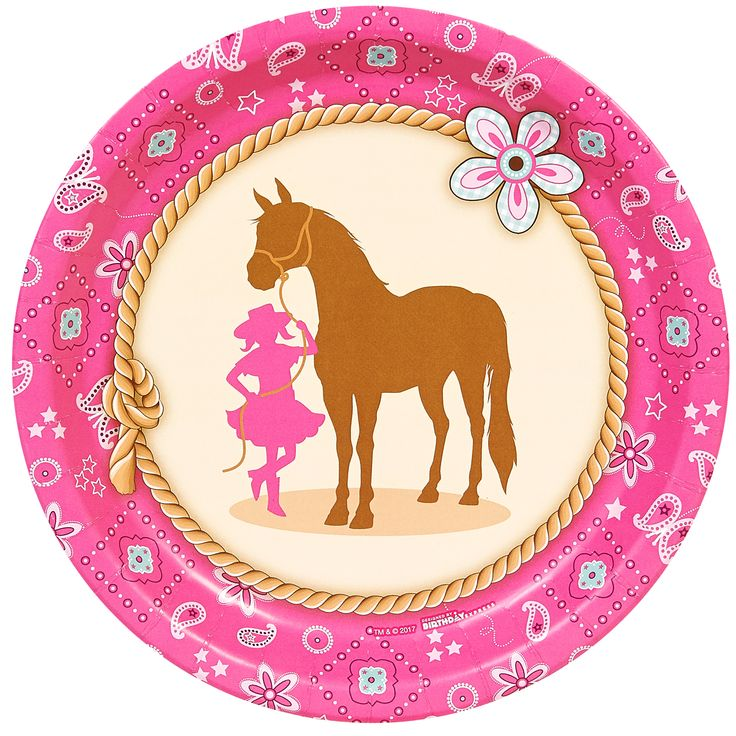 Western Cowgirl Party Dinner Plates (8) from BirthdayExpress.com