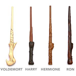 Harry Potter battling wands--infrared beams and movie sound effects when you cast a spell.
