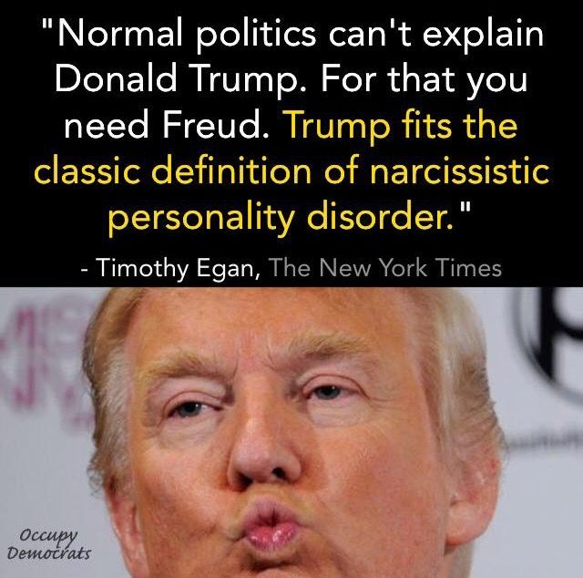 Yet he's leading Every Republican poll!  Telling, very telling.  Hitler had the same mental disorder.