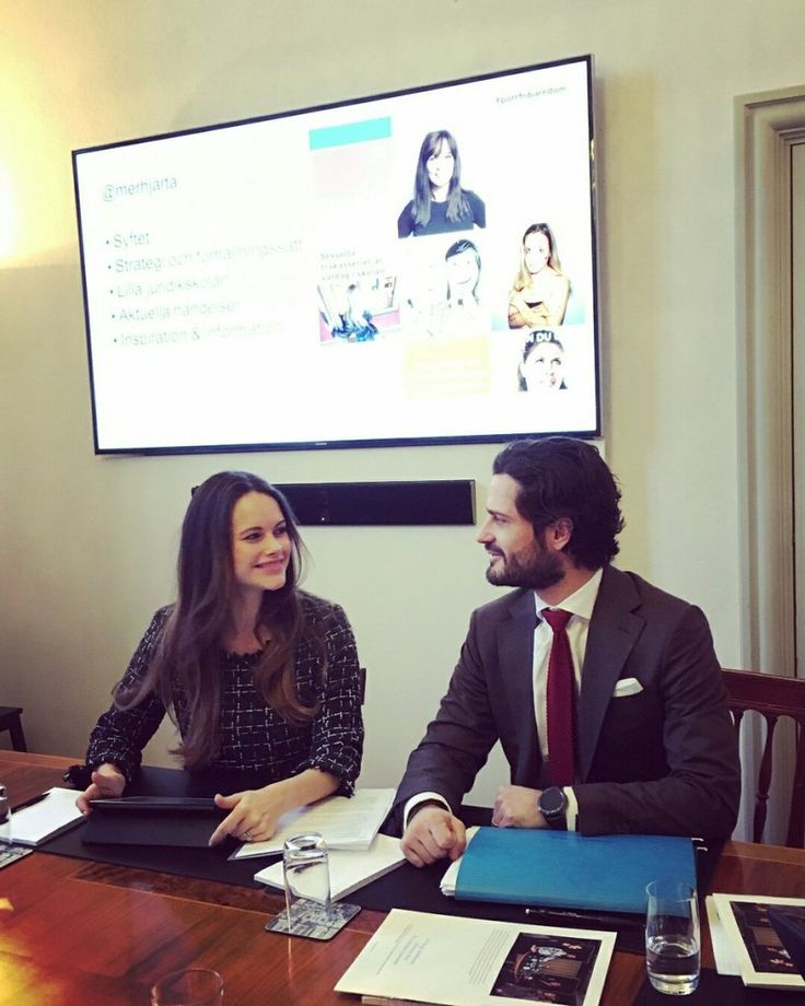 Prince Carl Philip and Princess Sofia held a meeting with their Prince Couple Foundation at the Royal Palace Dec. 15, 2017
