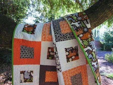 Frames quilt (top) by Elizabeth Hartman