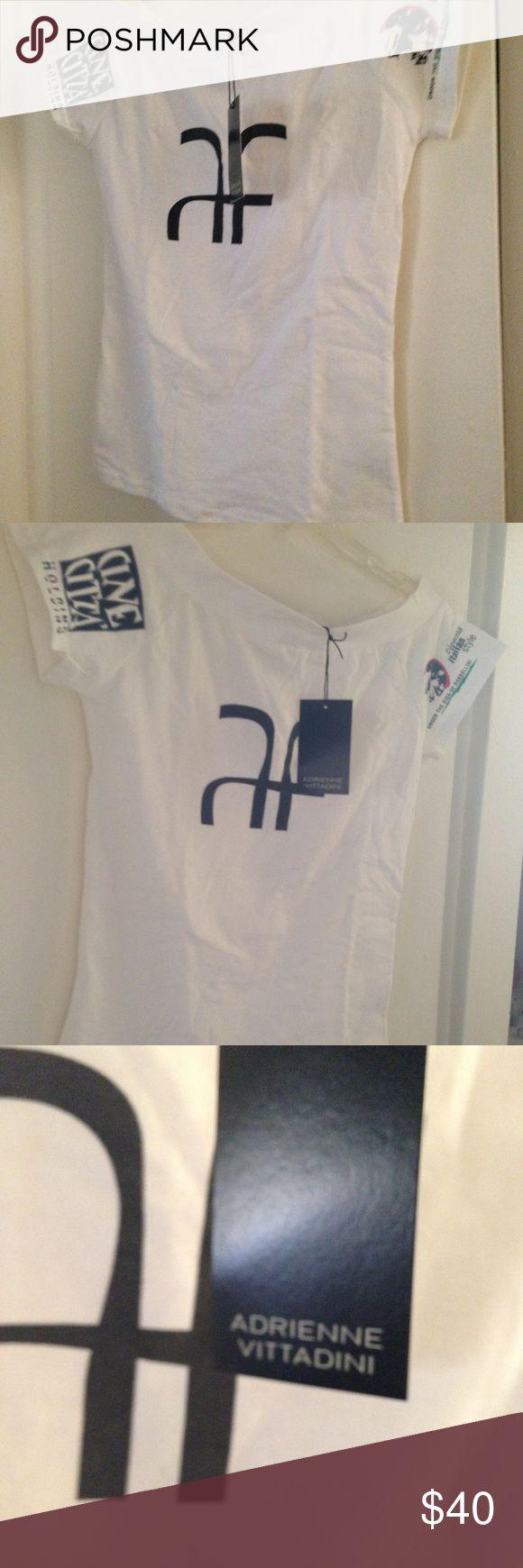 Alberta Ferretti for Cinecita Holdings Medium NEW! Alberta Ferretti for Cinecita Holdings Medium white shirt with logo for Italian Cinema style event. Limited edition Shirt Size Medium Stretchy cotton Alberta Ferretti Tops Tees - Short Sleeve