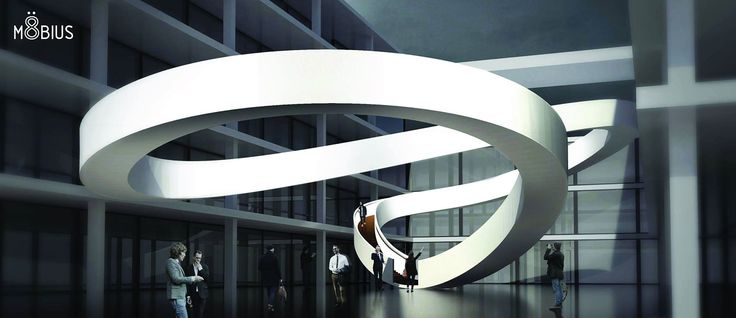 Project MöBIUS nominated as one of the best! We invite you to vote for us! VOTE HERE - http://www.eestairs.co.uk/designcompetition/en/9_nominees.htm Stairs become the focal point of the building, defining space of the atrium with its form. Visible from every point in the interior the staircase becomes a sculptural element that demands attention and invites you to hike to the upper floors.