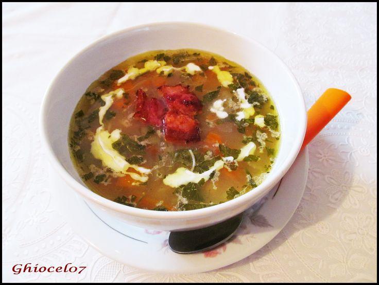 Supă de legume cu bacon