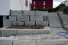 Granit Blockstufen 100x35x15cm grau  Granitstufen Treppen Mauersteine Naturstein