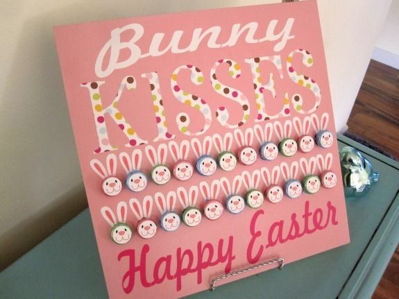 Easter: Kiss Board, Holiday Ideas, Bunny Hershey, Hershey'S Kisses, Hershey Kiss, Bunnies, Easter Bunny, Easter Spring