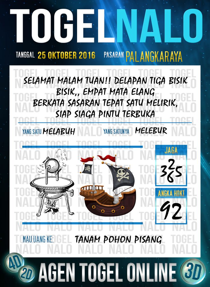 Tafsir Syair Togel Wap Online Live Draw 4D TogelNalo Palangkaraya 25 Oktober 2016