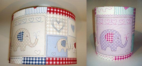Elephant nursery lampshade in ceiling or by TheFunkyNurseryshop, £20.00