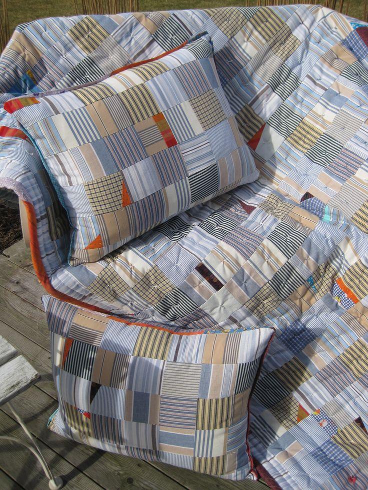 100 % recyckling patchworkblanket