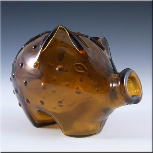 Holmegaard Glass Jacob E Bang Piggy Bank/Money Box