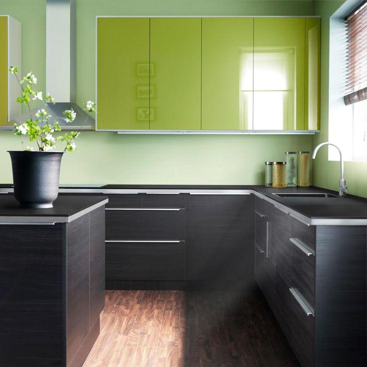 cocina ikea verde