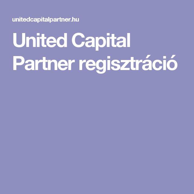 United Capital Partner regisztráció