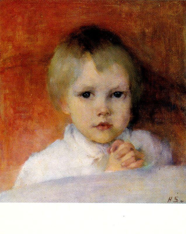Kuva albumissa HELENE SCHJERFBECK - Google Kuvat. Rukoileva tyttö 1885.