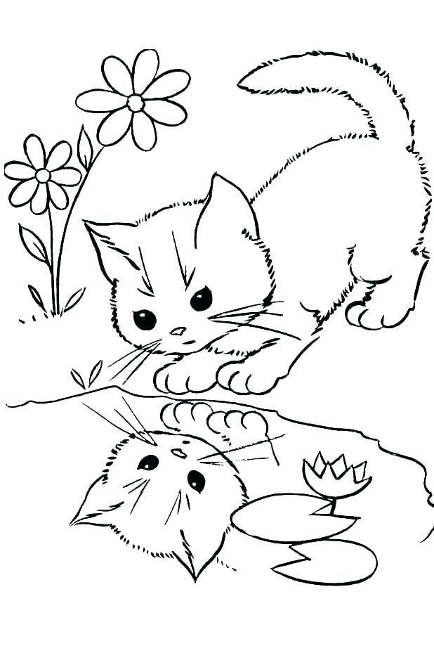 Kitten Coloring Pages Pdf Coloriage Chat Coloriage Dessin De Chat Mignon