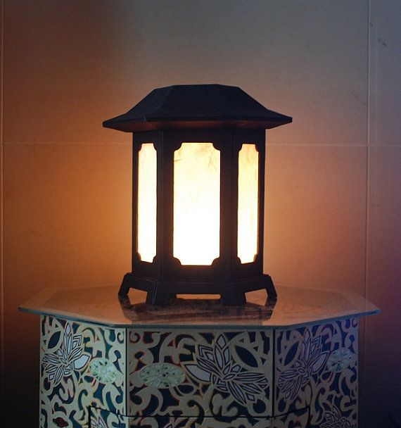 Night Light korean Traditional Lighting by koreanpaperart7 on Etsy