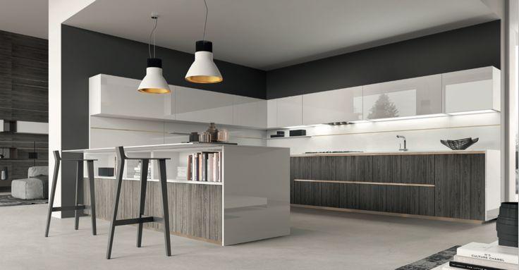 Melamine Oak kitchen composition, mod. Oregon.