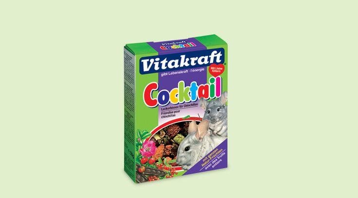 Cocktail per cincilla', leccornie salutari con cinorridi, frutti di sorbo selvatico e verdure.