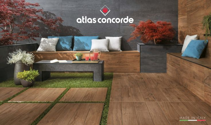 Outdoor porcelain stoneware with wood effect: Etic Pro by Atlas Concorde