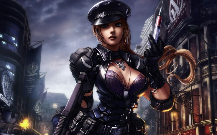 обои 2560x1600 шприц, Девушка, огнестрельное оружие, пояс