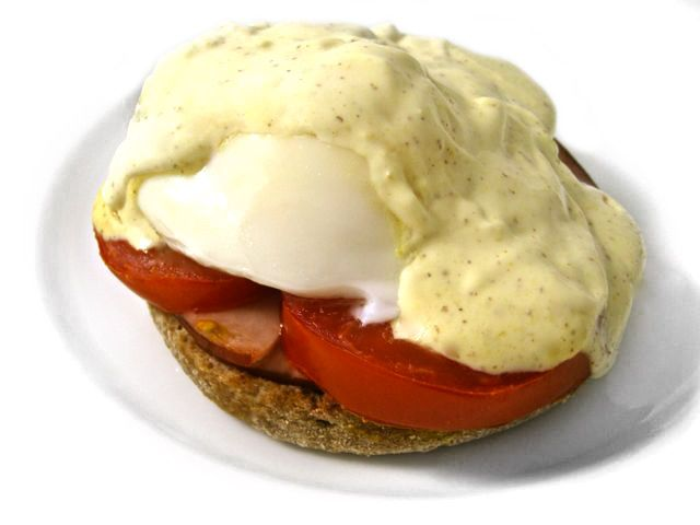 """You bet...This skinny one is beyond delicious!!! And, it's topped with a low calorie """"mock"""" Hollandaise sauce. Perfect to make on the weekend. Each skinny serving has 204 calories, 9 grams of fat and 5 Weight Watchers POINTS PLUS. This recipe"""