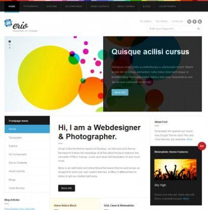 JA Erio - Clean & Simple Template