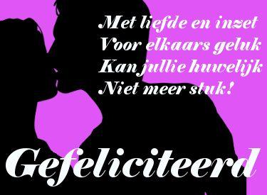 leuke huwelijk felicitatie plaatjes met tekst: Met liefde en inzet...leukeplaatjesz.nl