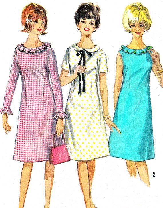 década de 1960 patrón simplicidad 5910 Mod por NeenerbeenerKnits