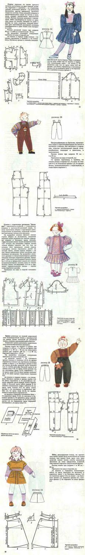 Старый добрый журнал с выкройками детской одежды всех размеров