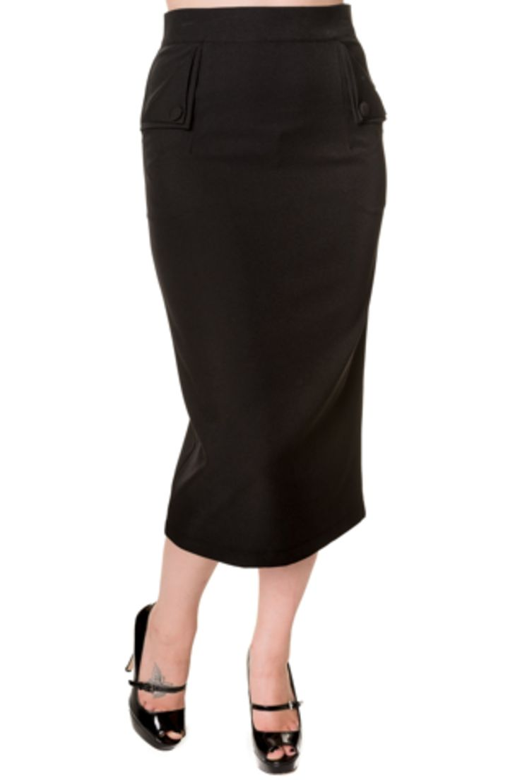 Banned Black wiggle pencil skirt