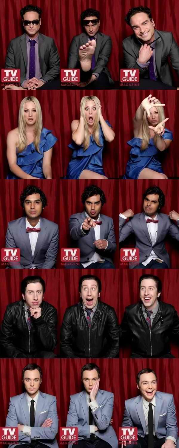 """the big bang theory cast yey! :"""">"""