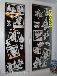 Картинки по запросу украшение окон на новый год