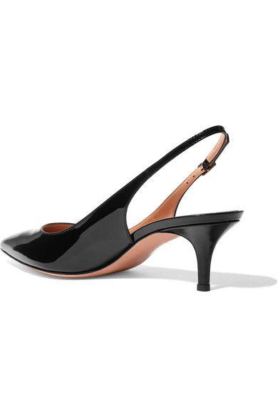 Gianvito Rossi - Patent-leather Slingback Pumps - Black - IT37.5