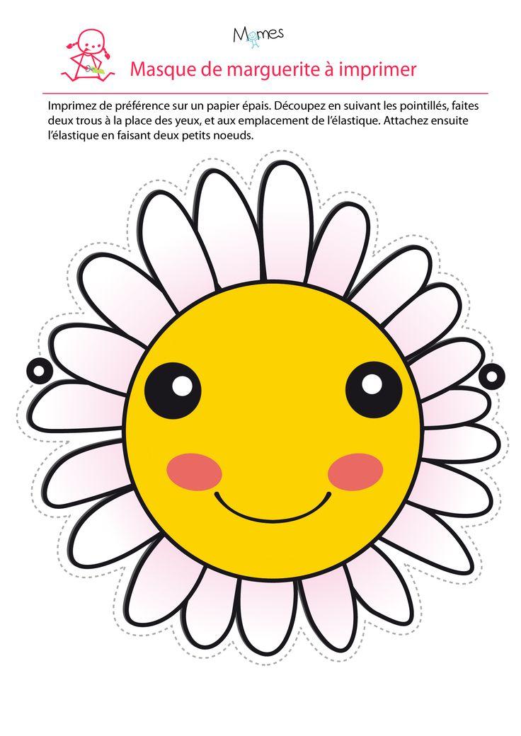 Masque fleur à imprimer