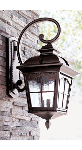 Outdoor Lighting - for both sides of the garage :) I like this!