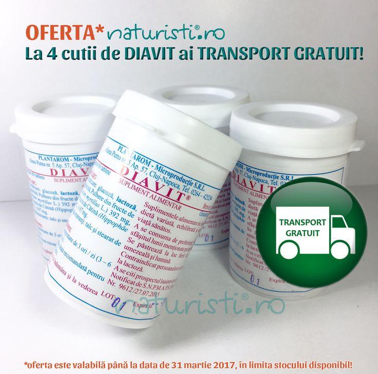 Oferta naturisti.ro! La 4 cutii de Diavit ai acum transportul gratuit. Comandă până la sfârșitul lunii martie.