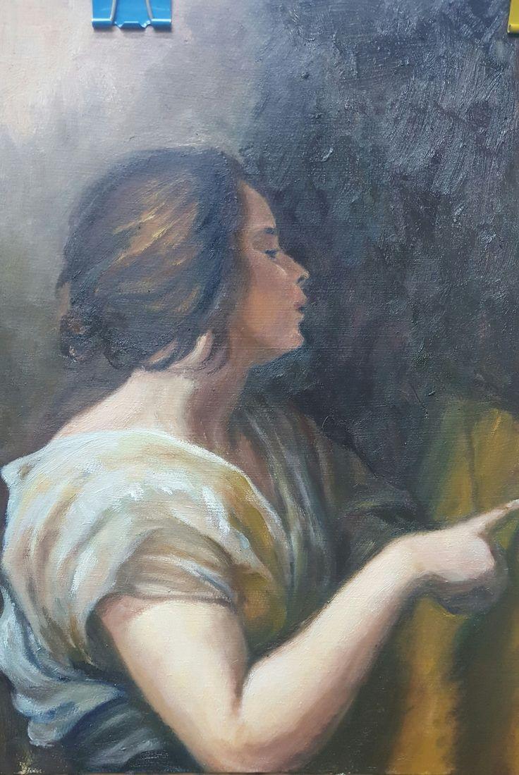 Oil painting, Ryung-A Kim on ArtStation at https://www.artstation.com/artwork/q3VNy