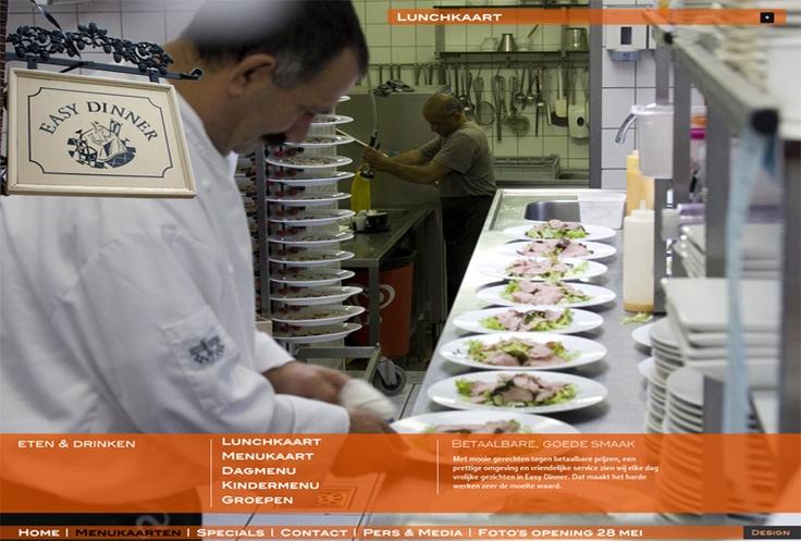 Website easy-dinner.nl voor restaurant Easy Dinner in Waddinxveen