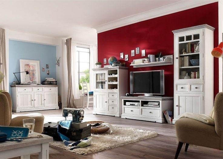 Wohnwand holz weiß  104 besten Wohnwände Bilder auf Pinterest | Entertainment center ...